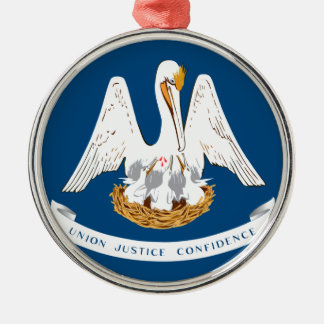 Louisiana Rundes Silberfarbenes Ornament