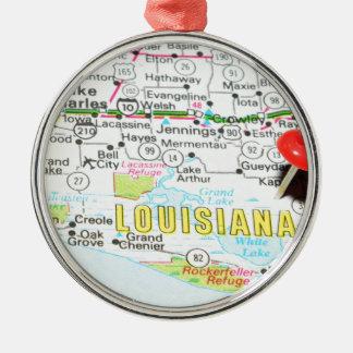Louisiana Silbernes Ornament