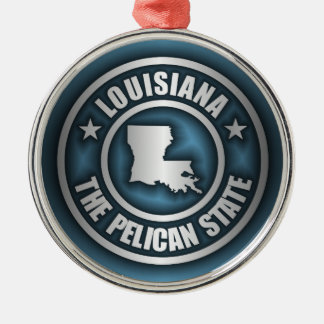 """""""Louisiana-Stahl 2"""" Verzierungen Rundes Silberfarbenes Ornament"""