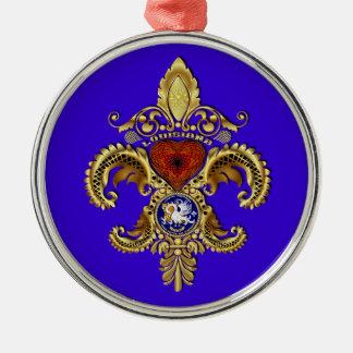 Louisiana verziert erstklassige Runde Rundes Silberfarbenes Ornament