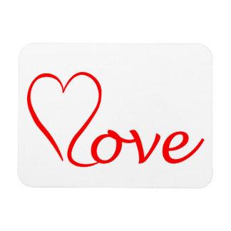 Love Herz auf weißem Hintergrund Magnet