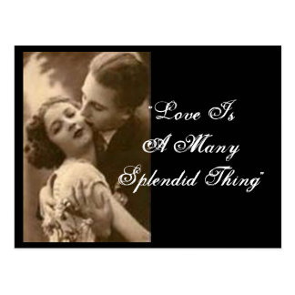 """""""Love Is A Many Splendid Thing"""" Postcard Post Cards"""