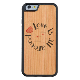 Love is all around! bumper iPhone 6 hülle kirsche