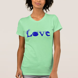 Love Life In Lime And Blue T Shirts