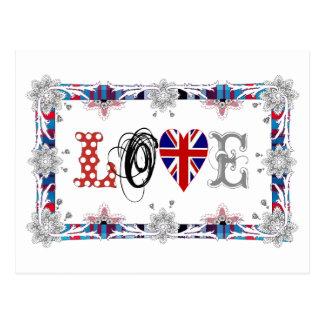 Love UK / England Postkarte