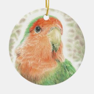 Lovebird-Pilaf Keramik Ornament