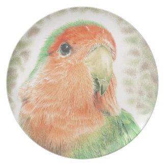 Lovebird-Pilaf Melaminteller