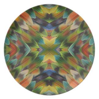 Lovebirdfeder-Kaleidoskop Melaminteller