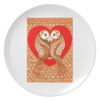 Lovebirds 2 melaminteller