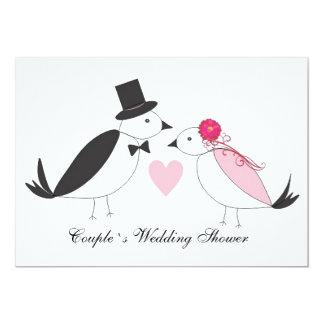 Lovebirds-Brautpaar-Polterabend-Einladung 12,7 X 17,8 Cm Einladungskarte