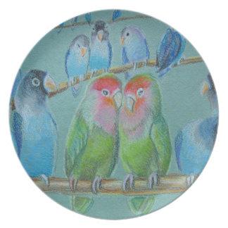 Lovebirdsölpastell Teller
