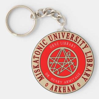 Lovecrafts Miskatonic Hochschulbibliothek Schlüsselanhänger