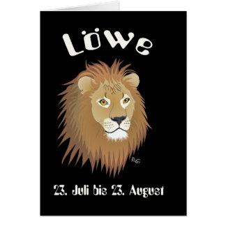 Löwe 23. Juli bis 22. August Karte