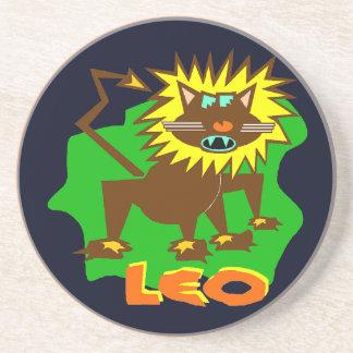 Löwe-Horoskop-Zeichen-lustiger Getränke Untersetzer