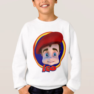 Löwe-Porträt auf Kreis-Hintergrund-Sweatshirt Sweatshirt