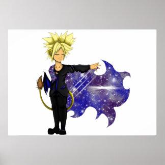 Löwe-Prinz der Galaxien Poster