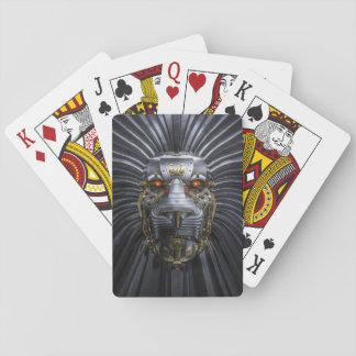 Löwe-Roboter-Spielkarten Spielkarten
