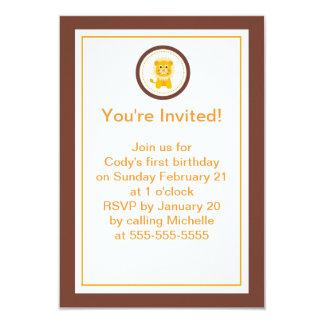 Löwe scherzt Party Einladung