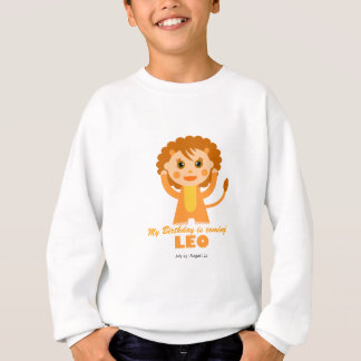 Löwe-Tierkreis für Kinder Sweatshirt