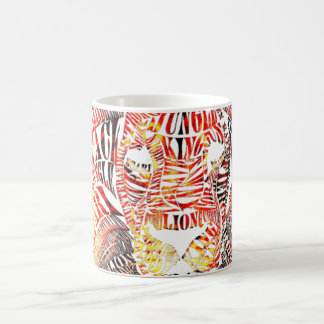 Löwe-Typografie-Tasse Tasse
