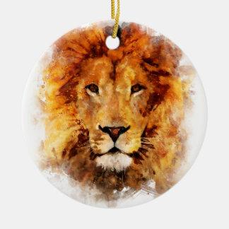 Löwe Wasserfarbe Keramik Ornament