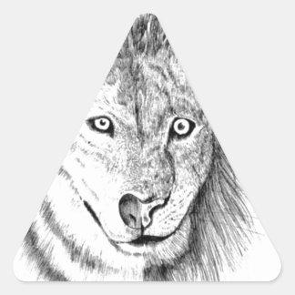 Löwe-Wolf Dreiecks-Aufkleber