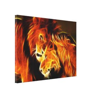 Löwen in der Liebe Leinwanddruck