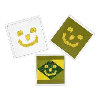 Löwenzahn-Smiley Acryl Tablett