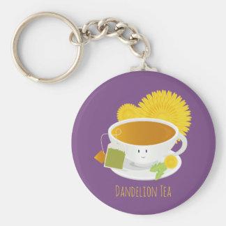 Löwenzahn-Tee-Schalen-Charakter | Keychain Schlüsselanhänger