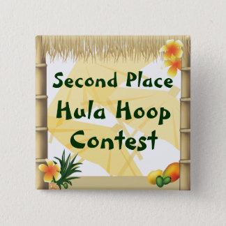 Luau Party-an zweiter Stelle Platz Hula Quadratischer Button 5,1 Cm