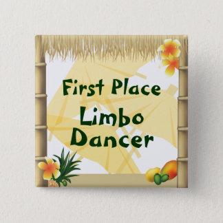 Luau Party-erster Quadratischer Button 5,1 Cm