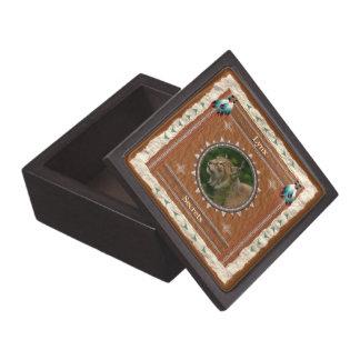 Luchs - Geheimnis-Holz-Geschenkboxen Schachtel