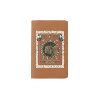 Luchs - Geheimnis-Notizbuch-Moleskin-Abdeckung Moleskine Taschennotizbuch