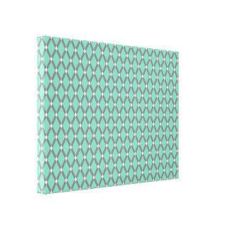 Lucite-grüne Diamant-graue Rahmen wickelten Galerie Gefaltete Leinwand