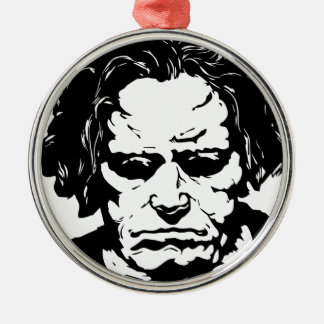 Ludwig van Beethoven - berühmter deutscher Rundes Silberfarbenes Ornament