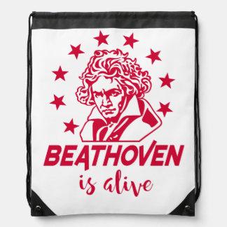 Ludwig van Beethoven mit Text Beathoven is alive Sportbeutel