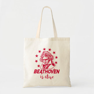 Ludwig van Beethoven mit Text Beathoven is alive Tragetasche