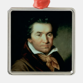 Ludwig van Beethoven Quadratisches Silberfarbenes Ornament
