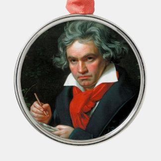 Ludwig van Beethoven Rundes Silberfarbenes Ornament