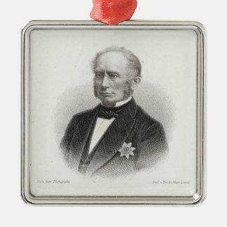 Ludwig Windthorst Quadratisches Silberfarbenes Ornament