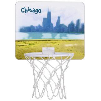Luft gebürstete Chicago-Wolkenkratzer Mini Basketball Ring