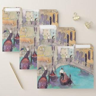 Luft Venedigs Plein Papiermappe