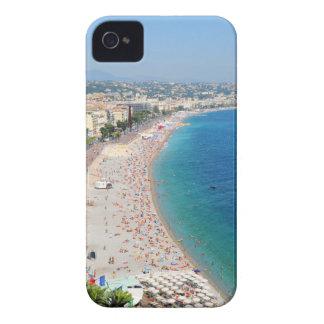 Luftaufnahme des Strandes in Nizza, Frankreich iPhone 4 Case-Mate Hülle