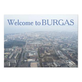 Luftaufnahme über Burgas Stadt, Bulgarien 12,7 X 17,8 Cm Einladungskarte