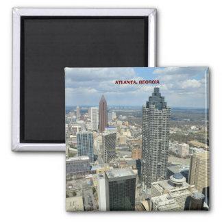 Luftaufnahme von Atlanta, Georgia Quadratischer Magnet