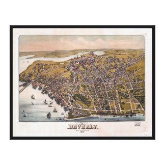Luftaufnahme von Beverly, Massachusetts (1886) Leinwanddruck