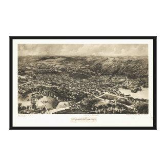 Luftaufnahme von Hopedale, Massachusetts (1899) Leinwanddruck