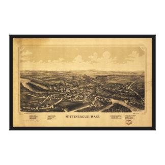 Luftaufnahme von Mittineague, Massachusetts (1889) Leinwanddruck