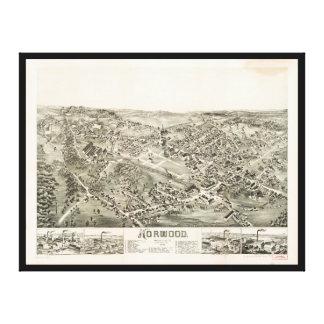 Luftaufnahme von Norwood, Massachusetts (1882) Leinwanddruck