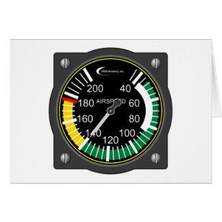 Luftfahrt-Fluggeschwindigkeits-Messgerät Grußkarte